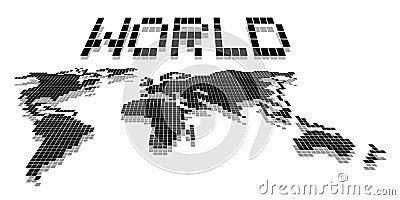 World map pixel