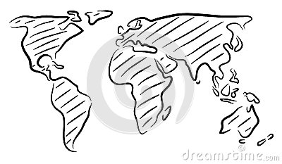 World map drawing outline info editable vector rough pic source gumiabroncs Gallery