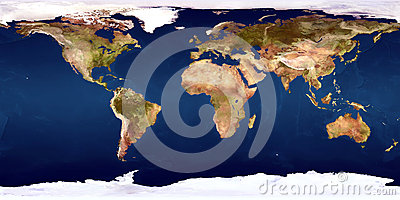 The World Map Stock Photo