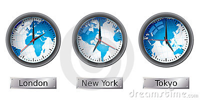 World Time Zone, Wall Clock Stock Images - Image: 23047194