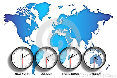World map time zones