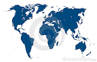 World map. Vector illustration