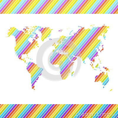 World map. Vector illustration