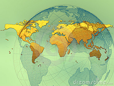 World Map Wireframe
