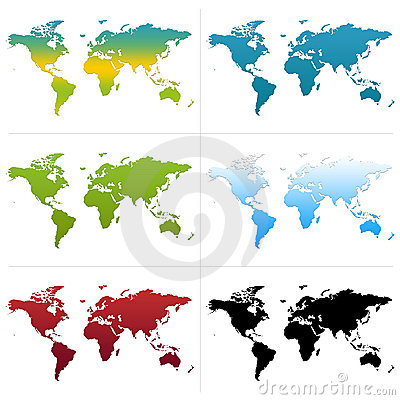 Free World Maps Royalty Free Stock Image - 1945856