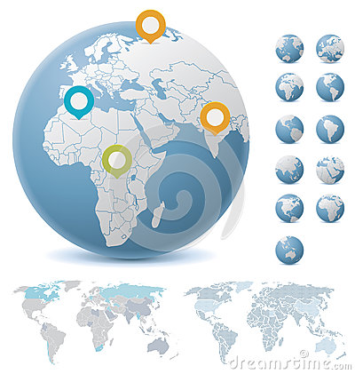 Free World Maps And Globes Stock Images - 32589794