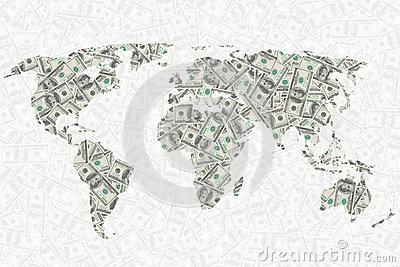 World of money background