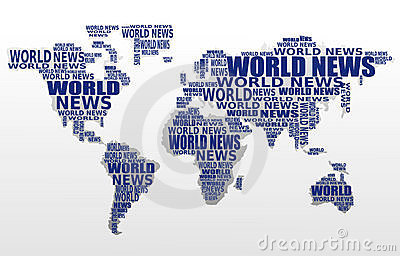 World news concept. Abstract world map