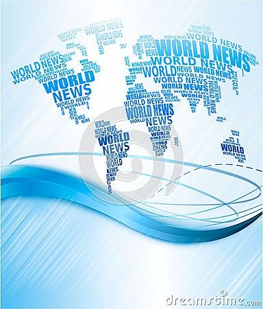 World news concept. Abstract world map