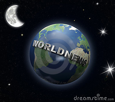 World-news globe