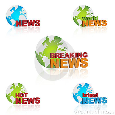 World News Icons Stock Images - Image: 21760034