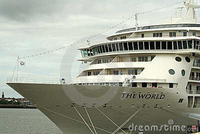 The world   Ocean Liner in Liverpool, Editorial Stock Photo