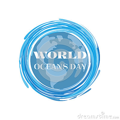 World oceans day Vector Illustration