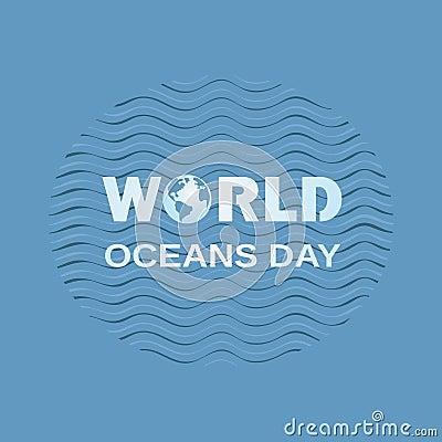 World oceans day Vector Illustration