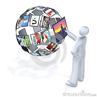 Free World Of Digital Multimedia Royalty Free Stock Image - 8489486