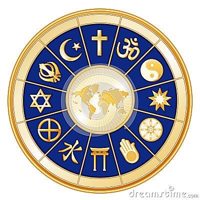 Free World Of Faith, 12 World Religions Stock Image - 11182031