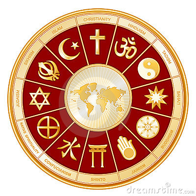 Free World Of Faith, Religions, Globe Map Stock Images - 5821134