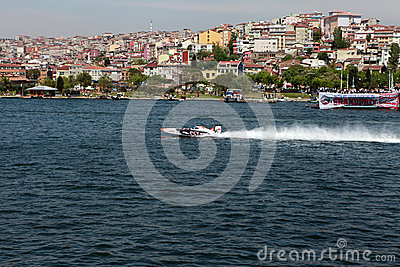 WORLD OFFSHORE CHAMPIONSHIP IN ISTANBUL. Editorial Stock Photo