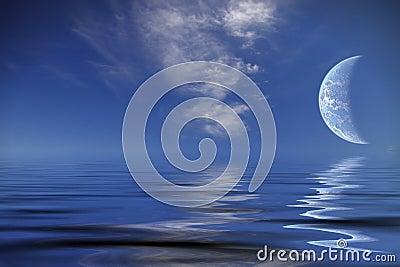 World planet over ocean