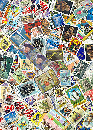 Free World Postage Stamps Royalty Free Stock Photo - 1981795