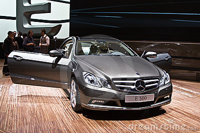 World premiere of new Mercedes-Benz E 500 coupe Editorial Photo