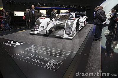 World Premiere of the Peugeot 908 Hybrid4 Geneva Editorial Image