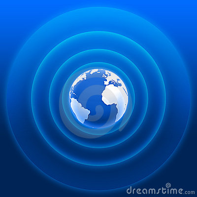 Free World Radar Waves Blue White 01 Stock Photos - 18199583