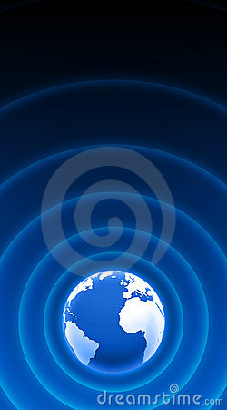 Free World Radar Waves Blue White 04 Stock Photo - 18199600
