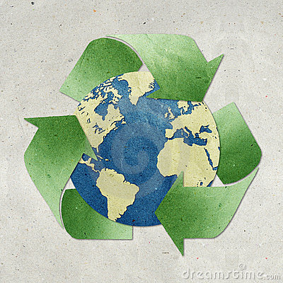 Free World Recycled Paper Craft Stock Image - 19871051