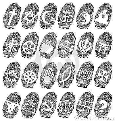 world religion and fingerprint