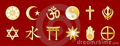 World Religions, Gold on Crimson