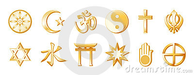 World Religions, Gold on White