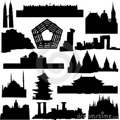 world renowned architecture royalty free stock images