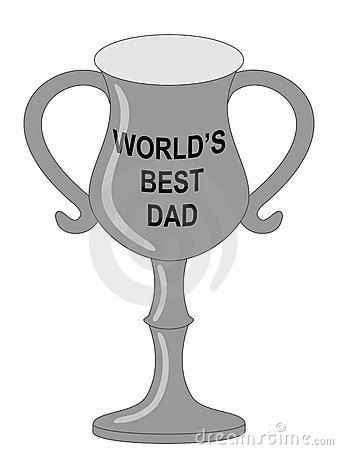World s best dad trophy