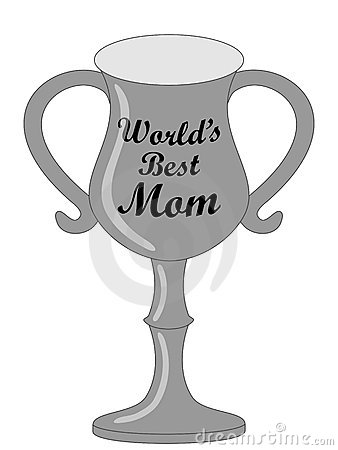 World s best mom trophy