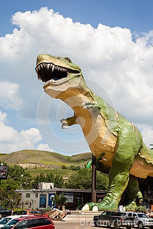 World s Largest Dinosaur in Drumheller, Canada Editorial Stock Image