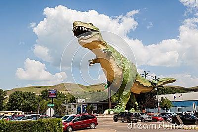 World s Largest Dinosaur in Drumheller, Canada Editorial Photo