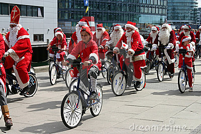 The World Santa Claus Congress in Copenhagen Editorial Image