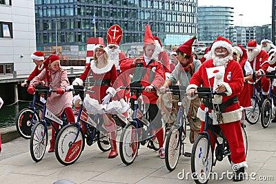 The World Santa Claus Congress in Copenhagen Editorial Photography