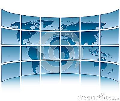 World on screens