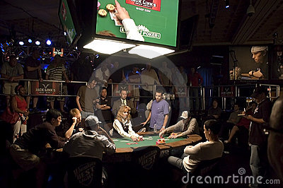 World Series of Poker Featured Table Editorial Photography