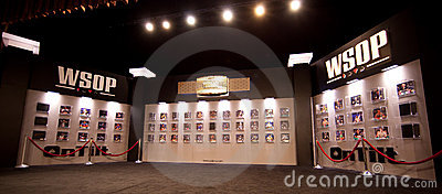 World Series of Poker (WSOP) Hall of Fame in Rio Editorial Photo