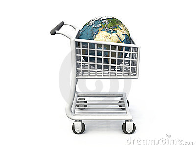World in shopping trolley