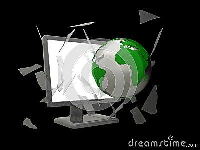 World smashing screen