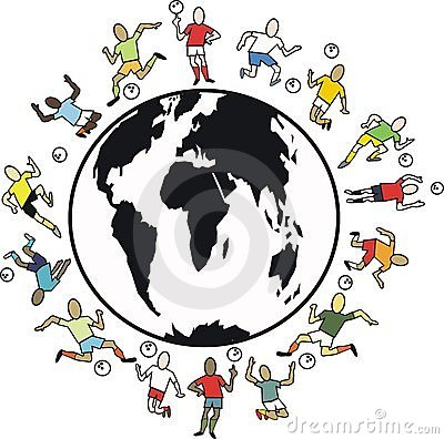 World soccer cartoon