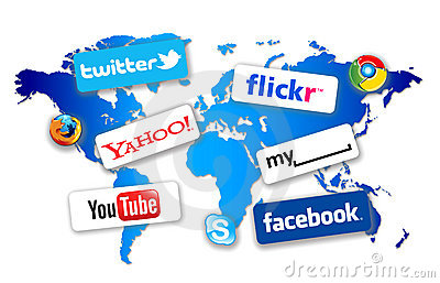 World Social Network Editorial Stock Photo
