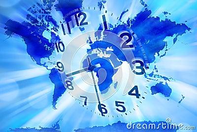 World Time Clock Earth