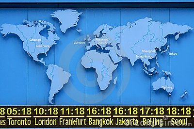 World Time with Map
