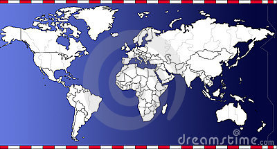 World time map vector