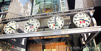 World time zone. Editorial Stock Photo